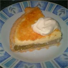 Rhubarb Cheesecake Pie - Allrecipes.com