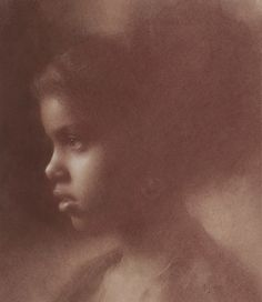 """""""Yanca profile"""" by Susan Lyon.  Pastel on paper"""