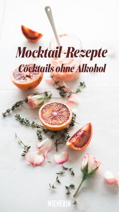 Mocktail - Cocktails ohne Alkohol: 4 Rezepte 4 Mocktail recipes that you want to drink this summer. Smoothies, Alcohol, Meals, Vegetables, Drinks, Healthy, Recipes, Cheese Burger, Silvester Party
