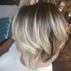 Blonde balayage by @hairbygalinamg