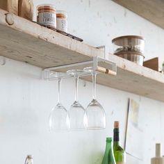 It goes under the cabinet. Tosca Under Shelf Wineglass Holder #yamazakihome #yamazakitosca #tosca #wineglasshanger #kitchen #kitchenstorage #kitchenorganization #scandinavian #japanesedesign #interiordesign #housewares