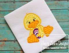 Duck with Easter Egg Applique