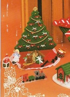 Musical Tree of Music Christmas Leaflet plastic canvas 1 of 5