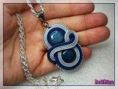 Bead Embroidery Jewelry, Textile Jewelry, Beaded Jewelry, Handmade Jewelry, Boho Jewelry, Soutache Pendant, Soutache Necklace, Diy Necklace, Shibori