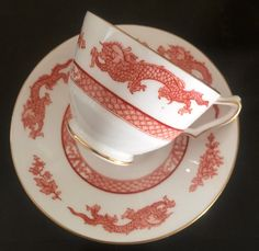 Vintage Crown Staffordshire/ made in England/tea cup and saucer set/Pattern #…