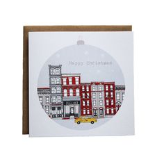 5 x New York Christmas Cards  Brooklyn Holiday by helenacarrington