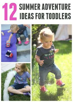 Here are 12 simple toddler summer activities to try! #sponsored #keenkidssummer