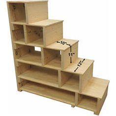 Stairs, steps & shelves can also be used as a standalone shelving unit. Stairs, steps & shelves can also be used as a standalone shelving unit. Loft Bed Stairs, Build A Loft Bed, Loft Bed Plans, Loft Bunk Beds, Tiny House Stairs, Bunk Beds With Stairs, Kids Bunk Beds, Bunk Bed Ladder, Stairs With Storage