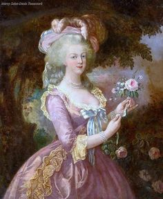 Portrait of Marie Antoinette inspired by the portrait of Elizabeth Vigée-Lebrun.