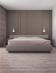 Minimalistic bedroom photos in beige by vitta-group Master Bedroom Interior, Bedroom Closet Design, Master Room, Home Stairs Design, Suspension Design, Minimalist Bedroom, Modern Room, Apartment Design, Living Room Designs