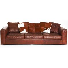 Hugh 3.5 -Seater Leather Sofa from Domayne