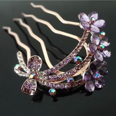 Find More Hair Jewelry Information about 6pcs/lot Fashion Girls Woman Flower Crystal Tuck Comb Bridal Hair Comb Hair Pin clips Wedding Hair accessory Hair Jewelry,High Quality hair replacement for women,China jewelry anklet Suppliers, Cheap jewelry resale from Hair's Art Online Wholesale Store on Aliexpress.com