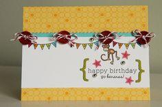 Papertrey Ink PTI Tag It's #10 Set, Tiny Treats: Birthday Stamp Set, Alphabet Dies (for the brackets)