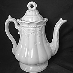 White Ironstone Teapot, Ceres