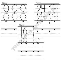 Here's a set of numeral writing sheets for the numbers 0-31.