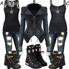 I would literally rock these outfits at a concert or on a bike ride.