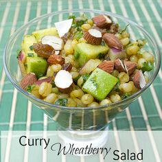 curry wheatberry salad text