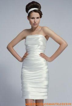 weißes trägerloses Brautkleid  aus Satin