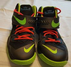 dc94504902b8 Boys Nike Lebron Soldier VII Black - Green Basketball Athletic Shoes Size  7Y  fashion  clothing  shoes  accessories  kidsclothingshoesaccs  boysshoes  (ebay ...