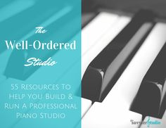 Get this FREE guide with more than 50 resources for helping you run your piano studio! I use these tools daily in my own studio so I know they work!