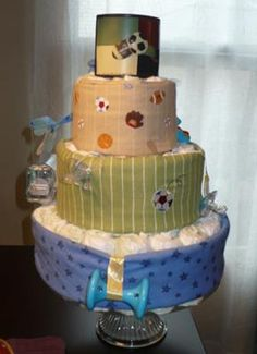 Sports Theme Diaper Cake: I am so excited to share an adorable sports theme shower sent in by Georgia. It is full of inspiration and fun! Thank you so much for sharing it with us!