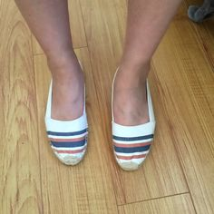 Soludos espadrilles Soludos for Madewell striped espadrilles! So cute and comfortable. Worn a few times. Marks can be washed off. Soludos Shoes