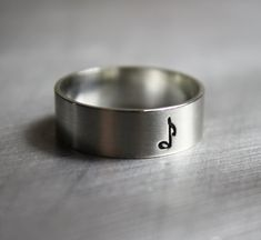 Music Ring Music Note Jewelry Clef Ring by JenniferWood on Etsy, $27.00