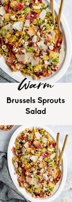 Warm Brussels Sprouts Salad with Bacon | Ambitious Kitchen