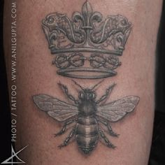 queen bee tattoo | Go Back > Gallery For > Bee With Crown Tattoo