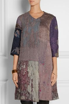 I pinned this 3 days ago! This beautiful embroidered detailed silk coat  BY WALID sold out on @netaporter today!