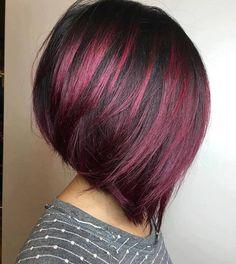 plum and black hair