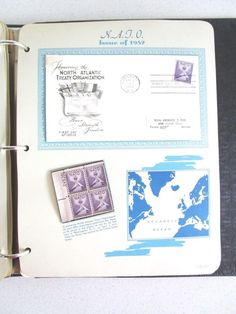 Postage Stamps Stationary Book Issue 1952 Book 17 pages First Day Issue NATO