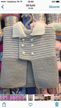 The model can be knitted with 5 nr fog orulurse and 5 nr fog orulurse 74 loops can be knitted as a single piece. Knitted Baby Clothes, Baby Hats Knitting, Knitting For Kids, Baby Knitting Patterns, Sewing For Kids, Knitted Hats, Baby Cardigan, Baby Pullover, Crochet Baby