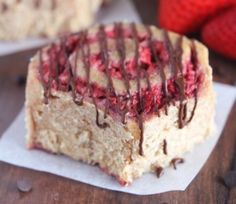 Strawberry Sweet Rolls with Dark Chocolate Drizzle