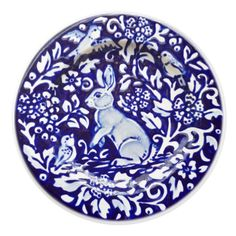 Shop Blue and White Rabbit Ceramic Tile Art Deco created by BonneIdeeArt. Personalize it with photos & text or purchase as is! Fine Porcelain, Porcelain Ceramics, White Ceramics, Porcelain Doll, Painted Porcelain, White Rabbits, Blue And White China, Blue China, Ceramic Knobs