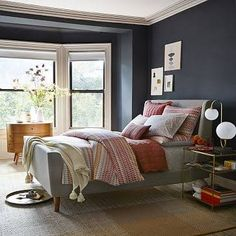 grey upholstered queen sleigh bed - Google Search