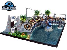 Park Lego Diorama Combines All Four Movies Into One Massive Display. By Markus Aspacher and Paul Trach.This Jurassic Park Lego Diorama Combines All Four Movies Into One Massive Display. By Markus Aspacher and Paul Trach.