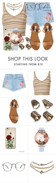 """""""80.5"""" by mallorimae ❤ liked on Polyvore featuring GRLFRND, Alice + Olivia, Steve Madden, Olivia Burton and Wet Seal"""