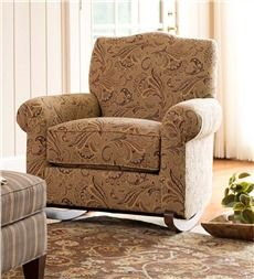 USA-Made Bedford Collection Upholstered Cottage Rocker