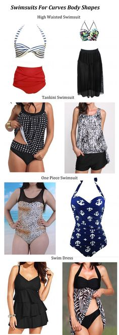 The Right Style of Swimsuits for Curves Body Shapes, Shop on http://www.lulugal.com/women-s-bra-bikini-sets-c33
