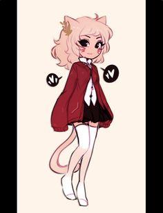 i like this girl's attitude. Kawaii Drawings, Cartoon Drawings, Cute Drawings, Character Design Girl, Character Design Inspiration, Pretty Art, Cute Art, Illustration Fantasy, Cartoon Art Styles