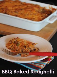 BBQ Baked Spaghetti
