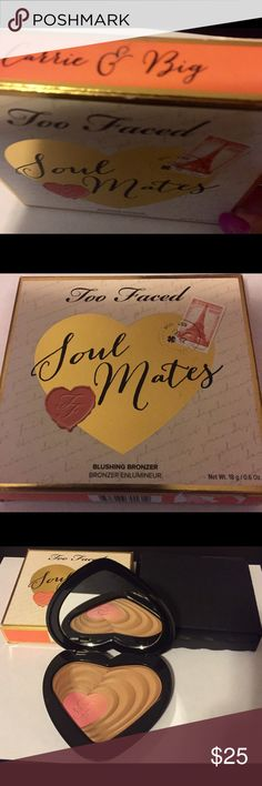 Too Faced Soul Mates-blush/bronzer Carrie and Big; new and never swatched or used Too Faced Makeup Bronzer