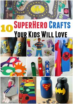 Not too long ago, I pinned a couple of superhero crafts on Pinterest and wanted to share them because they honestly are so much fun and I'm sure kids would