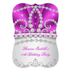 Princess Hot Pink Diamond Tiara Birthday Party 3a