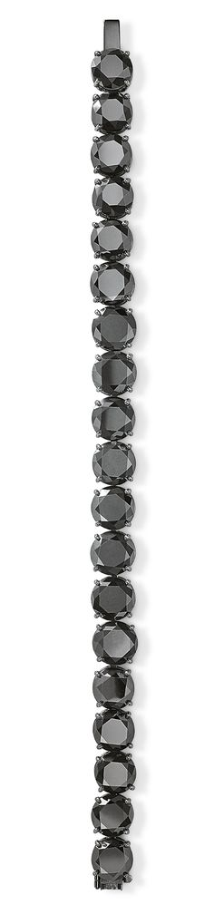 Black Diamond Tennis Bracelet in 18K White Gold with Black Rhodium. Various sizes available in stores upon request.