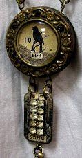 Bird Song mixed media necklace