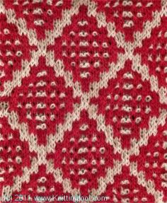 Dotted Diamond #knitting #stitch