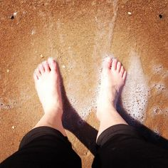 It's been a long time since these feet have been in the water - it's only 13 days since the end of winter. It makes me very happy!  #bellarinepeninsula #portarlington #feelslikesummer #sunday #sunshine by harvesthealthnaturopath http://ift.tt/1KMCQ8M