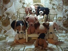 2000 Free Amigurumi Patterns: Puppy patterns: Shepherd, Collie, Beagle, Labrador and Spaniel